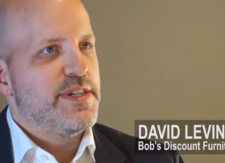 David Levin of Bob's Discount Furniture